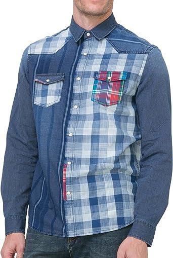 Desigual - Camisa casual - para hombre 5096 M: Amazon.es: Ropa y accesorios