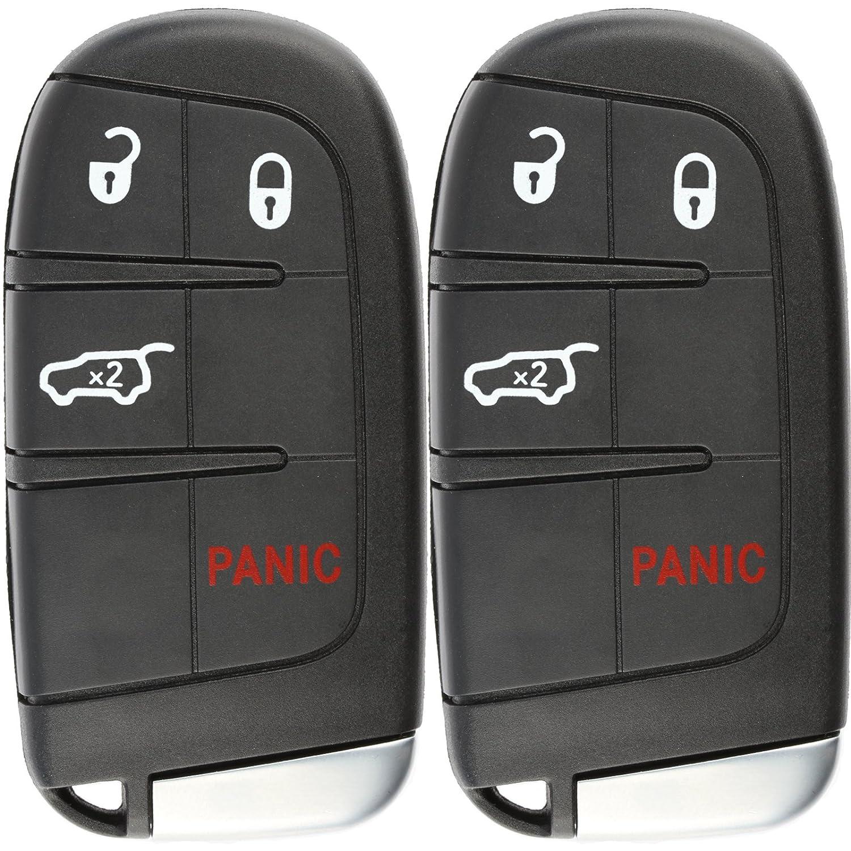 Pack of 2 KeylessOption Keyless Entry Remote Car Smart Key Fob for Dodge Durango Journey M3N-40821302