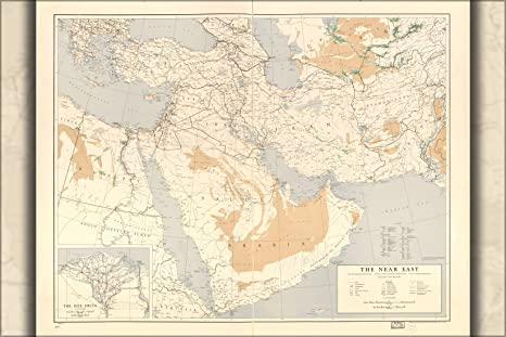 Amazon.com : 24x36 Poster; U.S. Army Map Of Near Middle East ...