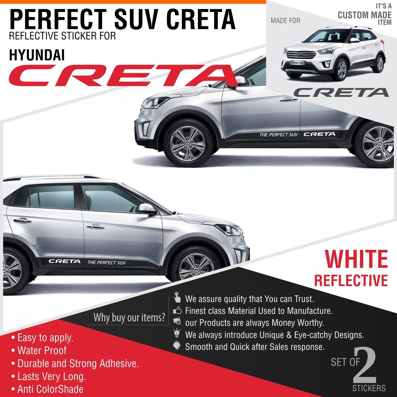 Carmetics the perfect suv reflective decal for hyundai creta amazon in car motorbike