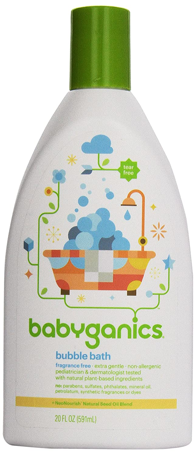 Tub Time, Extra Gentle Bubble Bath & Body Wash, Fragrance Free, 20 fl oz (591 ml) BabyGanics 01216