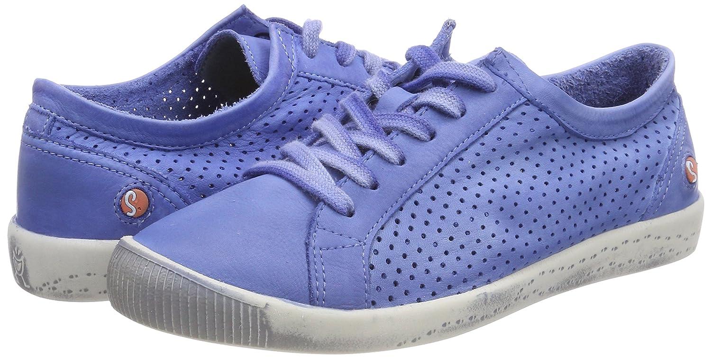 Softinos Blau Damen Ica388sof Washed Sneaker Blau Softinos (Lavender Blau) 2b997d
