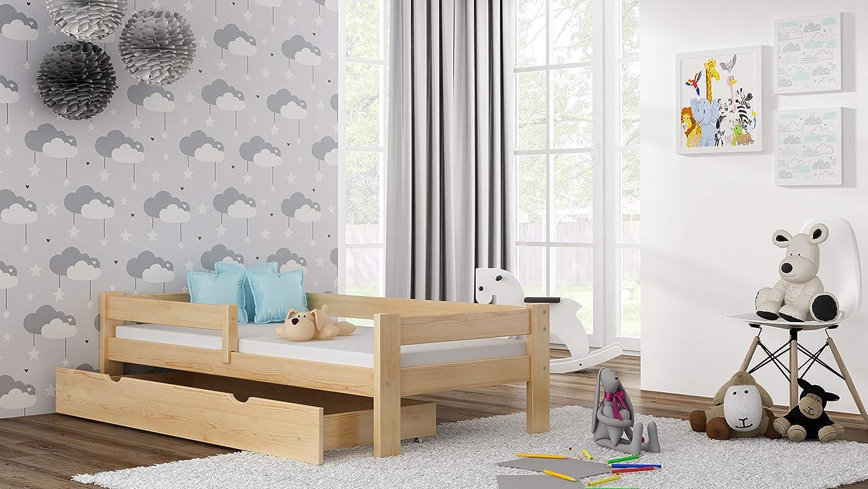 Childrens Beds Home Einzelbett aus massivem Kiefernholz 140 x 70, blau Coconut Matratze ohne Schubladen Willow kommt mit Schaum