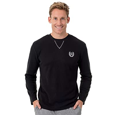 Chaps Men's Waffle Long Sleeve Crew Neck Top at Men's Clothing store