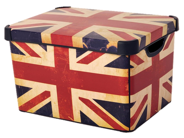 Curver 22 Litre Large Plastic Stockholm Deco Union Jack Storage Box.  sc 1 st  eBay & Curver 22 Litre Large Plastic Stockholm Deco Union Jack Storage Box ...