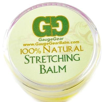 Bálsamo Gauge Gear para estiramiento de perforaciones (10 ml), usado para pendientes de botón y dilataciones: Amazon.es: Joyería