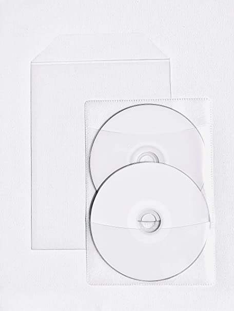 50 Clear CPP Plastic DVD Sleeves with Flap for 14mm DVD Box Awork & 2 disc Non-Woven sleeves By StarTechDeals