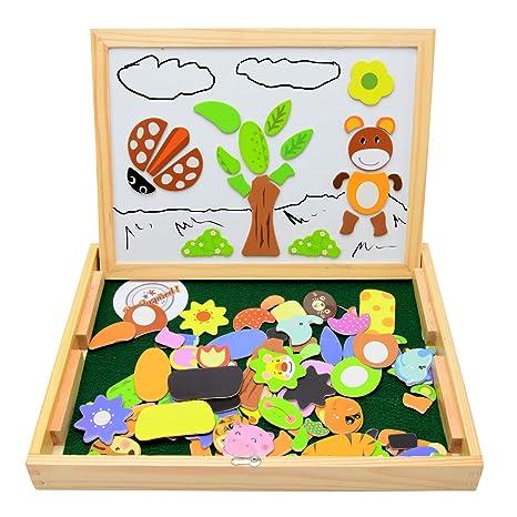 Babyhugs - Caballete magnético de madera para niños, doble ...