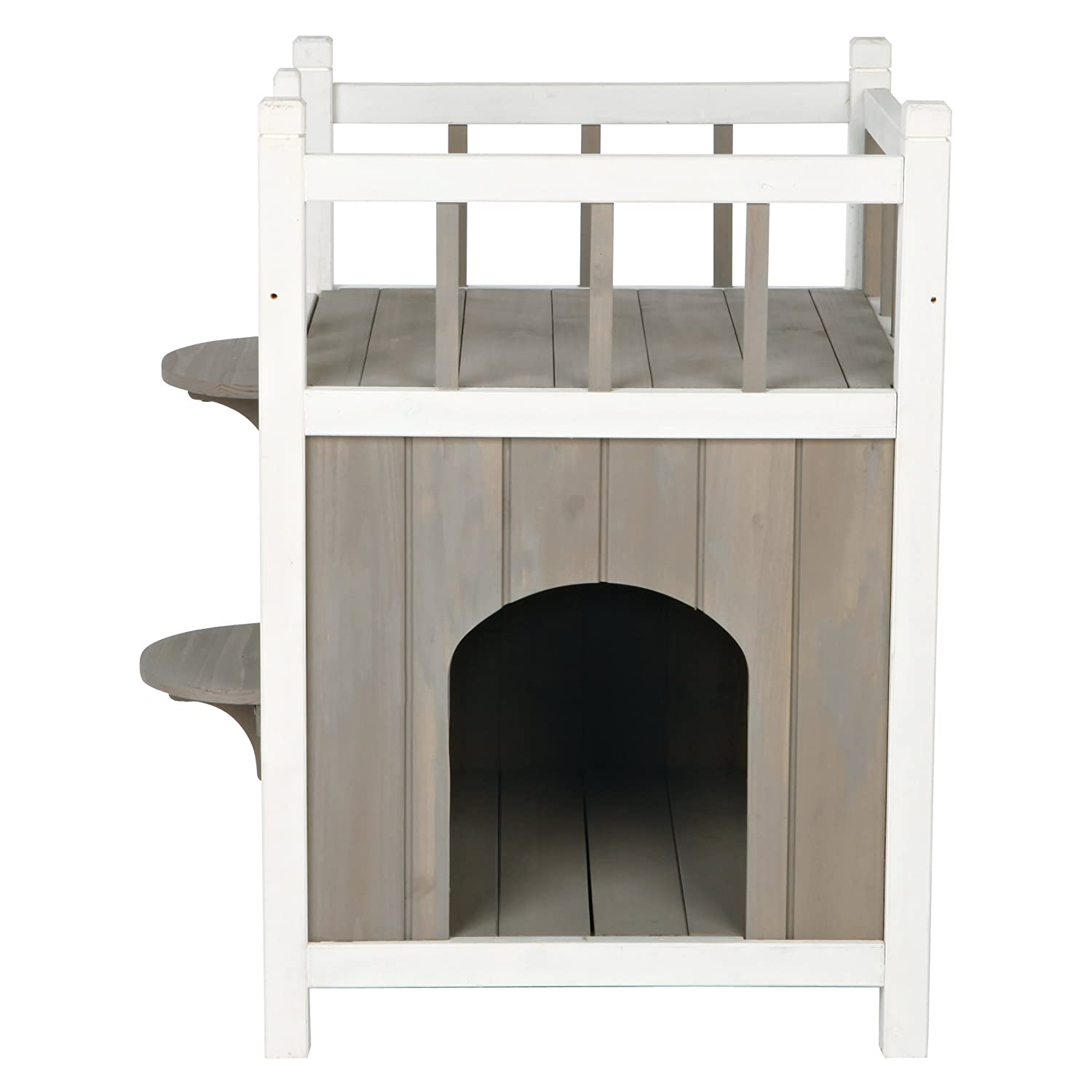 Amazon.com : Trixie Pet Products Wooden Pet Home with Balcony ...