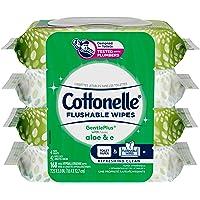 Cottonelle Gentleplus Flushable Wet Wipes - 4 Flip-Top Packs, 168 Total Flushable Wipes 168 count