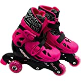 Elektra Tri Line Adjustable Boots (Small, Pink)