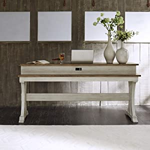 Liberty Furniture Industries Farmhouse Reimagined Console Bar Table, W76 x D22 x H36, White