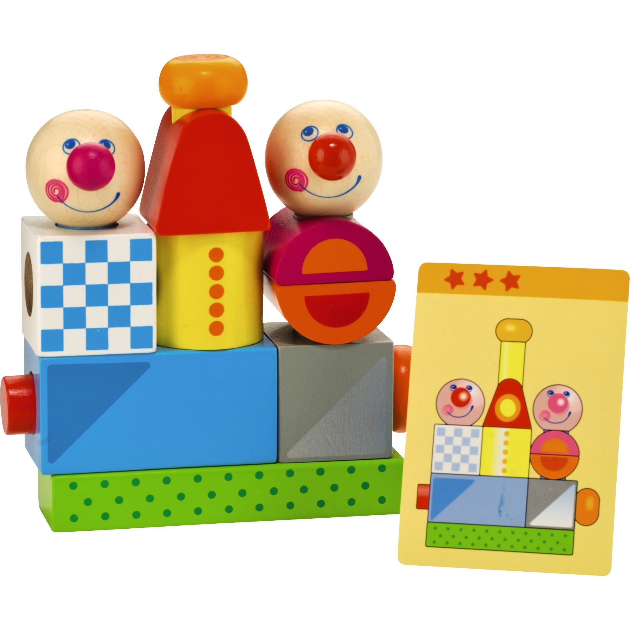 HABA Brain Builder Peg Set Building Blocks with Pattern Cards & 3 Levels of Difficulty for Ages 2+ by HABA (Image #1)