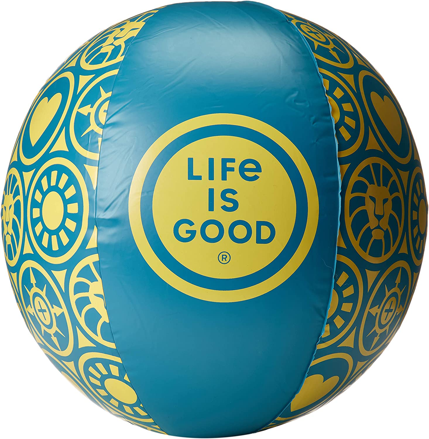 Life is Good Beach Ball, Seaport Blue, One Size