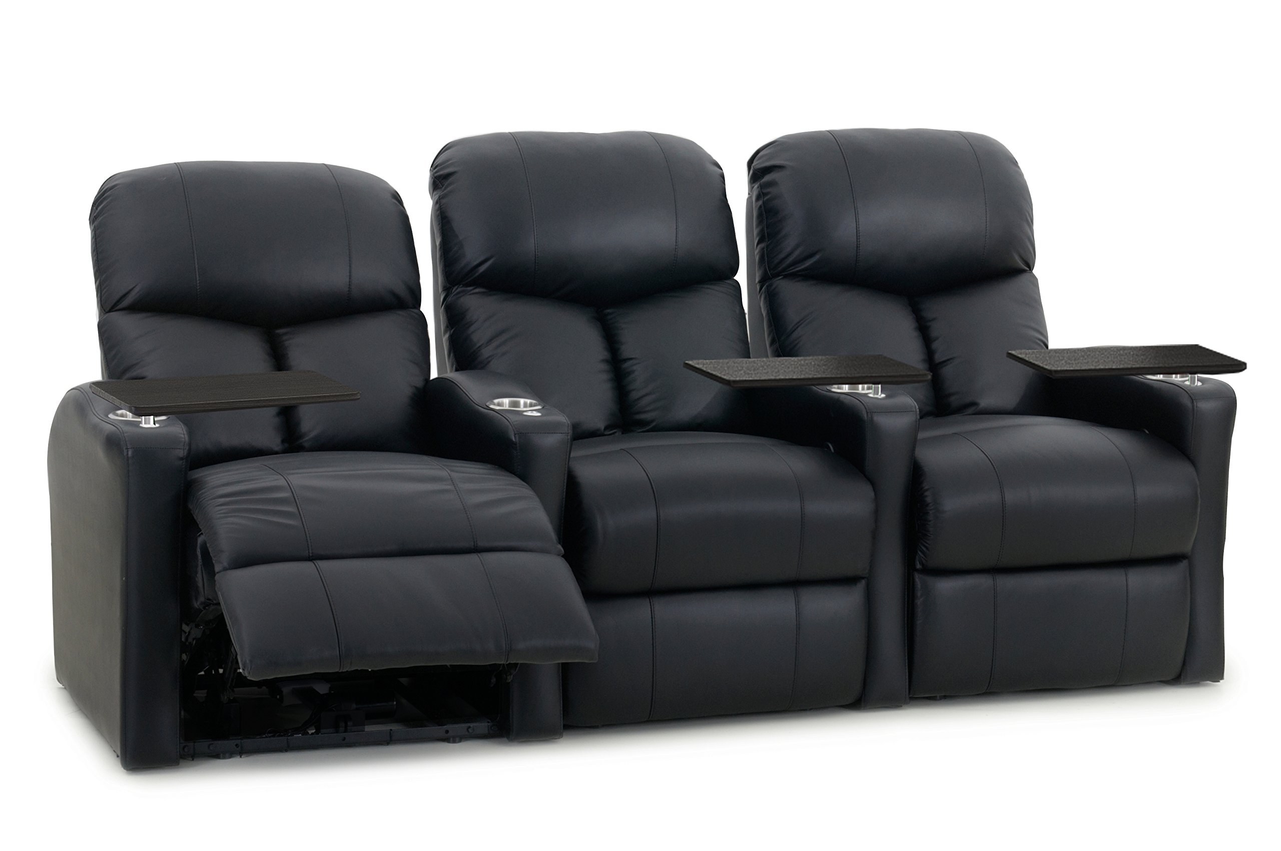 Octane Seating BOLT-R3SP-BND-BL Octane Bolt XS400 Motorized Leather Home Theater Recliner Set (Row of 3)