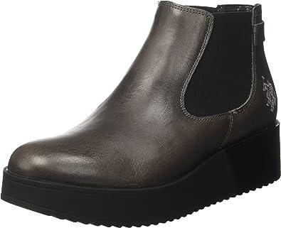 U.S.POLO ASSN. Sapphire Leather, Botas Chelsea para Mujer: Amazon ...