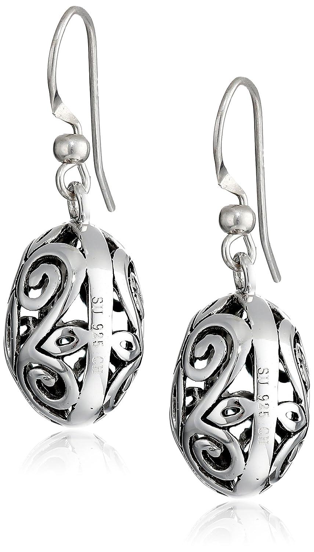 Amazon: Sterling Silver Filigree Oval Drop Earrings: Brighton Jewelry:  Jewelry