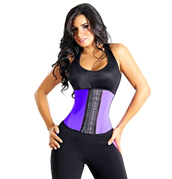 aefc4bb0c7b Waist Trainer Corset  9 Reinforced Steel Bones – 100% Premium Latex and  Cotton For