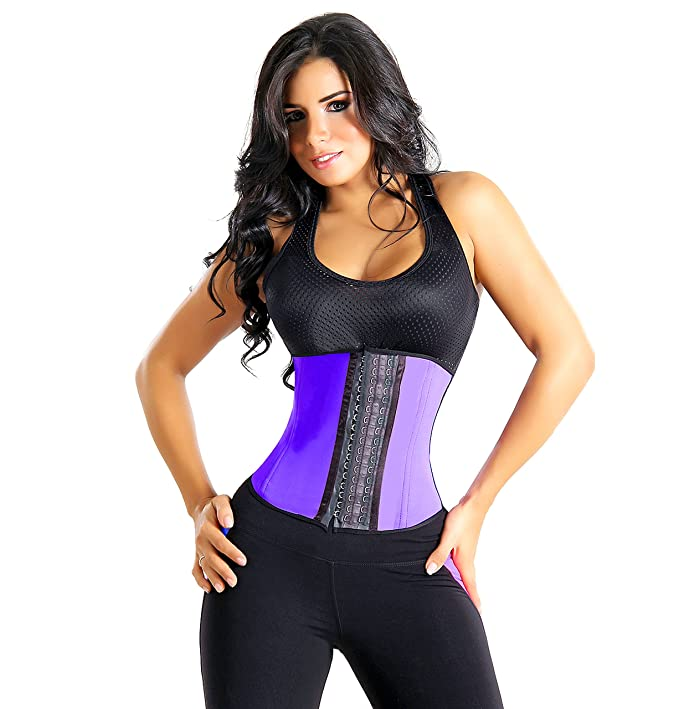 6999595a9b0 Waist Trainer Corset  9 Reinforced Steel Bones - 100% Premium Latex and  Cotton For