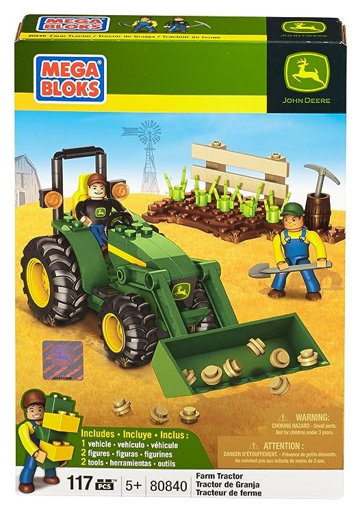 Amazon.com: Mega Bloks John Deere Farm Tractor: Toys & Games