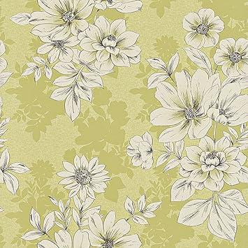 Rasch Tivoli Blumen Muster Blumenmuster Eckig Motiv Metallische