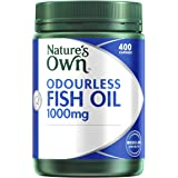 Nature's Own Odourless Fish Oil 1000mg - Source of Omega-3 - Maintains Wellbeing - Supports Healthy Heart & Brain, 400 Capsules