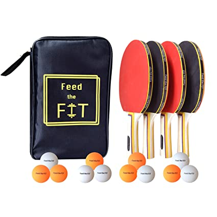 Amazon.com: Feed the Fit Ping Pong Paddle Set – Juego ...