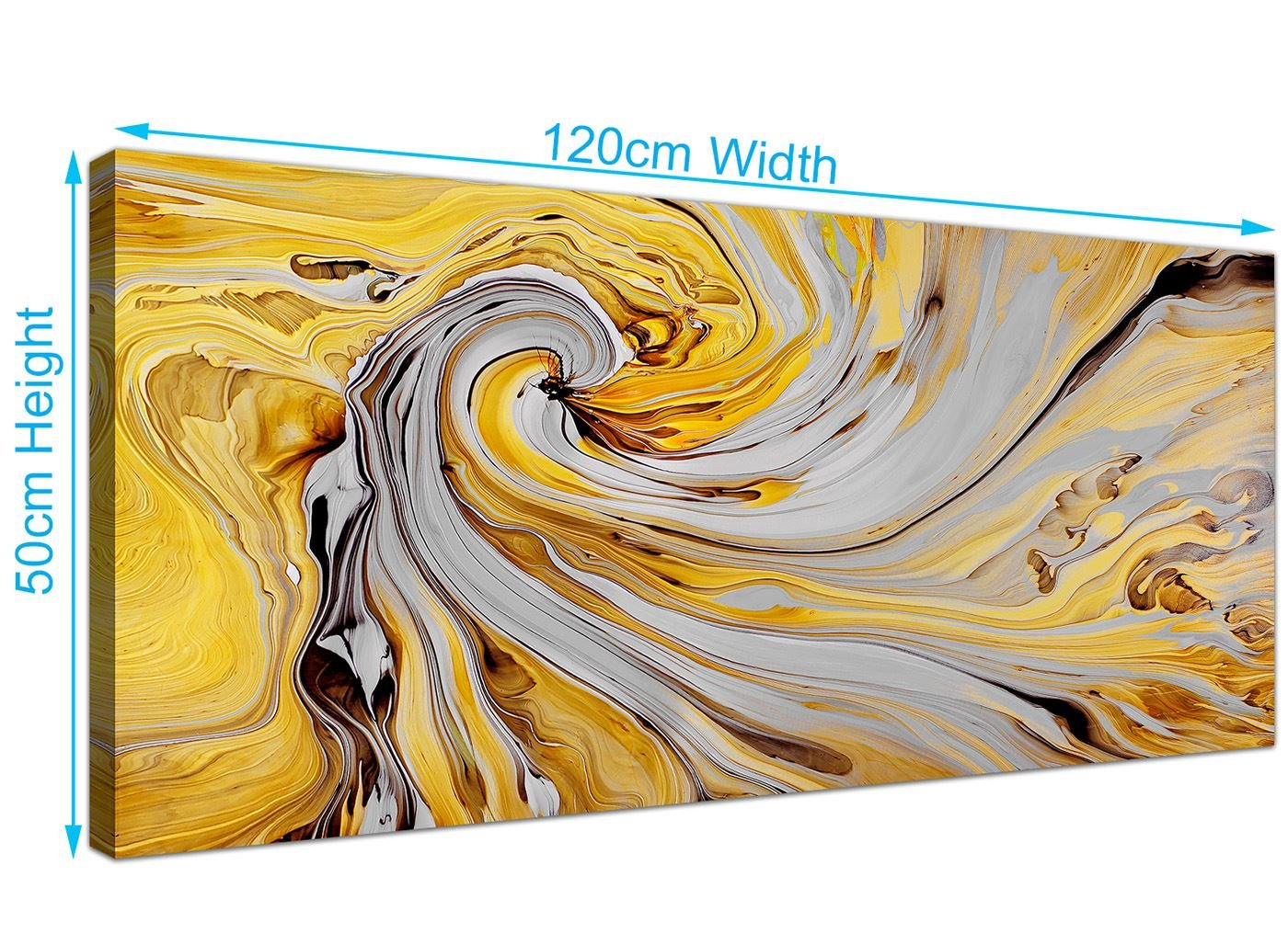 Mustard yellow grey canvas wall art accessories abstract 1290 120cm wide amazon co uk kitchen home