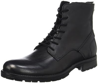 JACK   JONES Herren JFWORCA Leather Black Klassische Stiefel, Schwarz, ... f121ed847f