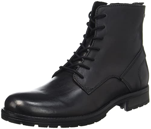 41e43f6e24ce55 JACK   JONES Herren Jfworca Leather Black Klassische Stiefel  Amazon ...