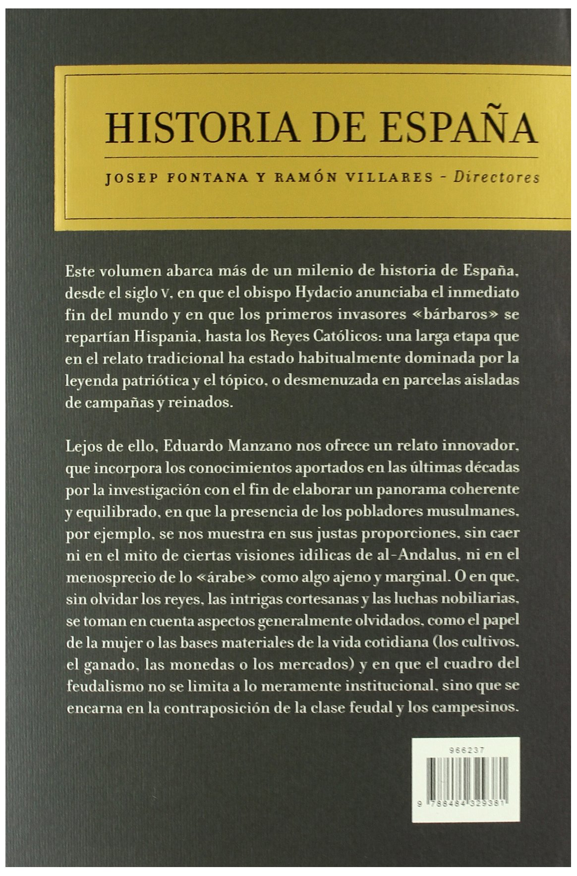 Épocas medievales: Historia de España Vol. 2: Amazon.es: Manzano, Eduardo: Libros