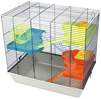 Buy Duvo 493 313a Large Fun Hamster Cage With Accessories Online At Low Prices In India Amazon In