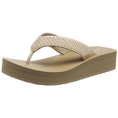 Skechers Women's Vinyasa-Beach League-Pearl/Rhinestone Flip Flop | Sandals