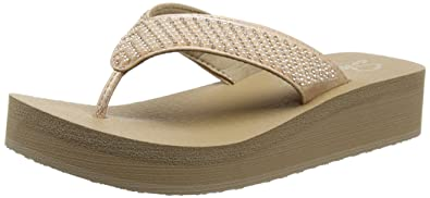 Skechers Damen Vinyasa-Beach League T-Spangen Sandalen Grau