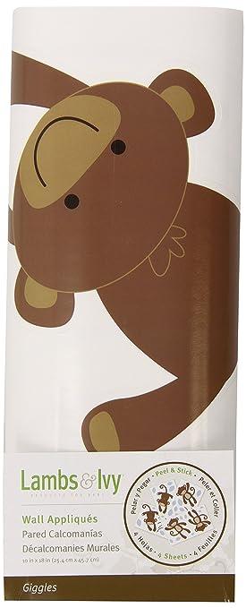 Amazon.com : Lambs & Ivy Wall Appliques, Giggles : Nursery Wall ...