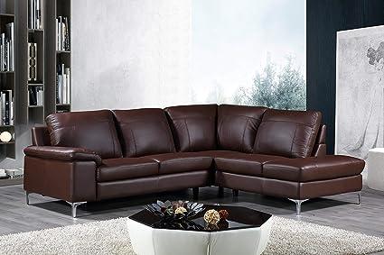 Amazon.com: Cortesi Home Contemporary Dallas Genuine Leather ...