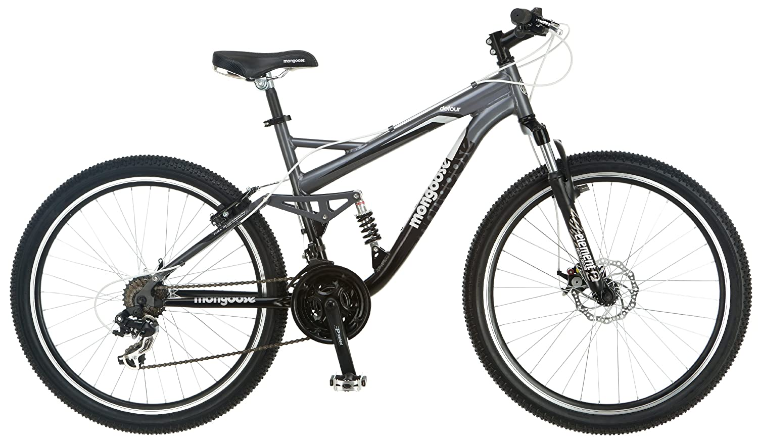 Mongoose Detour Full Suspension Bicycle 26 Inch