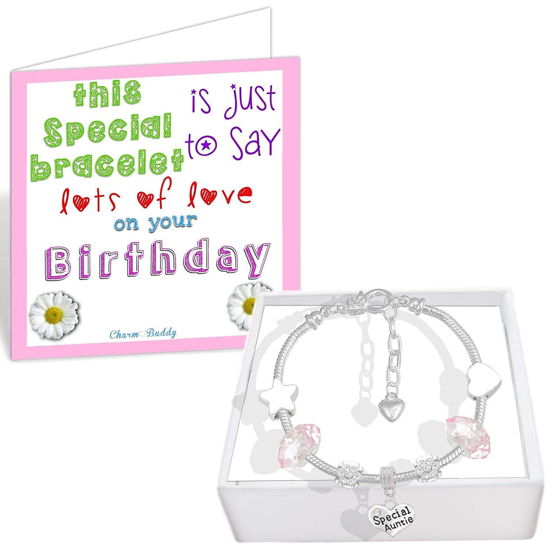 9a9b7ddf1 Amazon.com: Charm Buddy Aunt Auntie Aunty Charms Bead Fit Silver Pandora  Style Bracelets: Jewelry