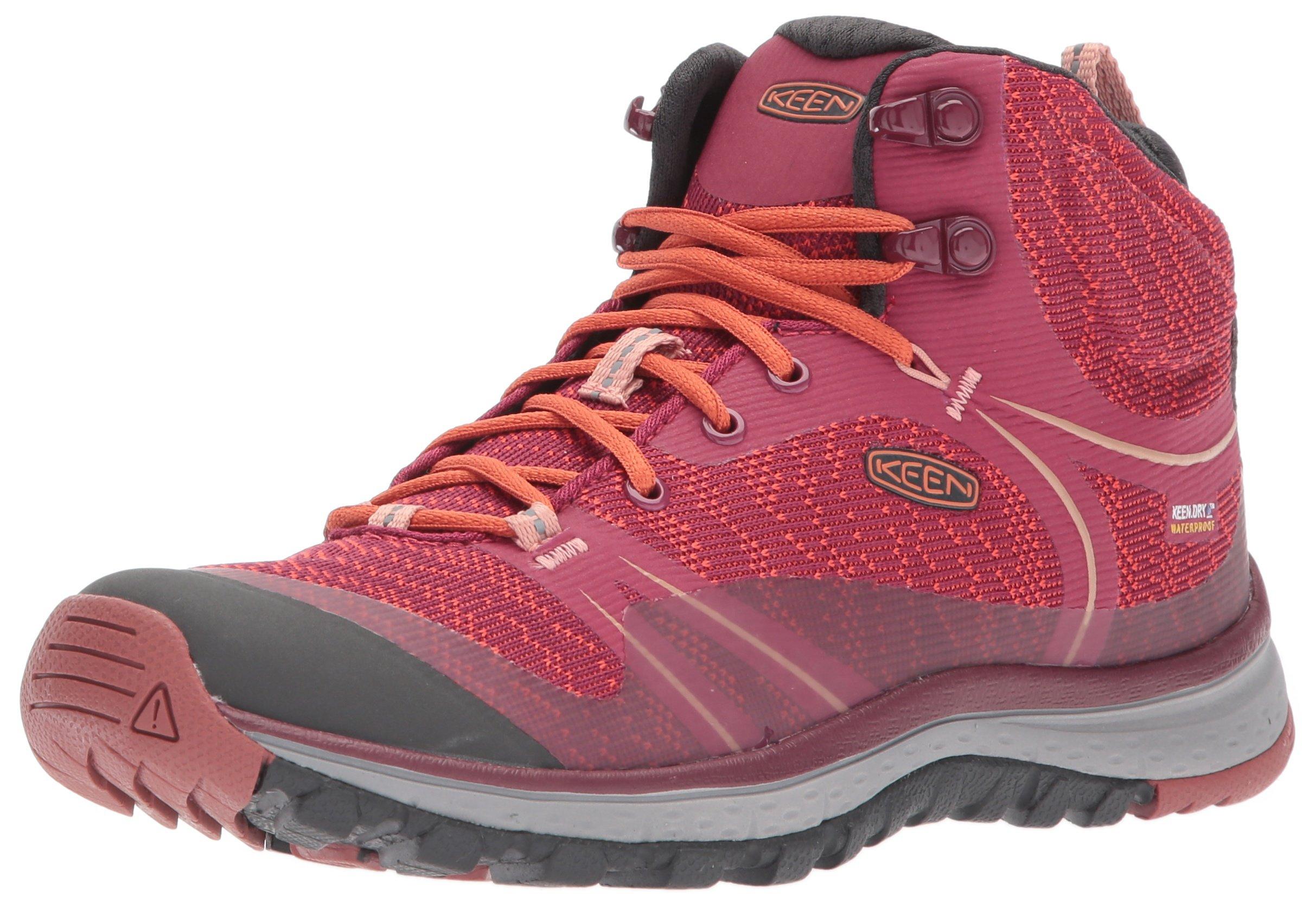 KEEN Women's Terradora Mid Wp-w Hiking Shoe, Rhododendron/Marsala, 5 M US