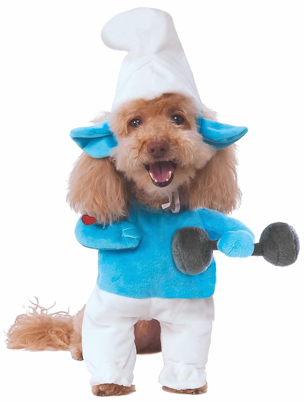 Rubie's Smurfs The Lost Village Walking Hefty Smurf Pet Costume, Large
