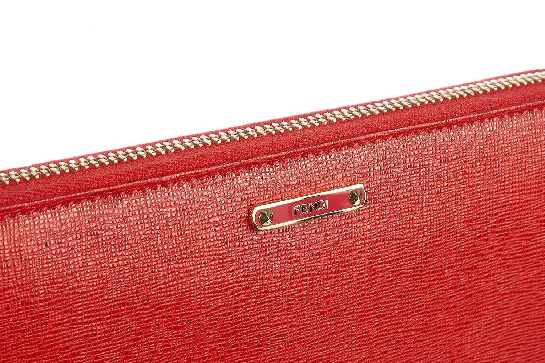d3ad4dad7785 Fendi portefeuille porte-monnaie femme en cuir deux plis elite rouge   Amazon.fr  Chaussures et Sacs