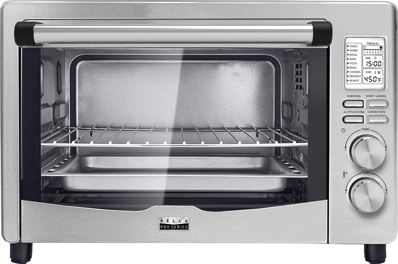 Bella - Pro Series 6-Slice Toaster Oven - Stainless Steel