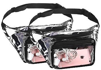 Amazon.com: Bolsas para menos cintura transparente Fanny ...