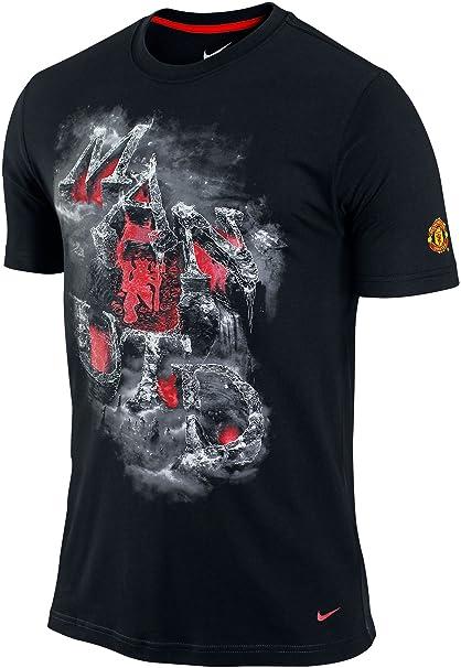 bb059c24d Amazon.com  Nike Manchester United FC Soccer Core Man Utd Red Devils Fire  Brimstone T-Shirt (Small