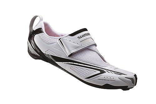 Shimano TR60 del Hombres triatlón Zapatillas de Ciclismo para Bicicleta, (Blanco/Negro), Medium / 46.5 M EU / 11.5 D(M) US: Amazon.es: Zapatos y ...