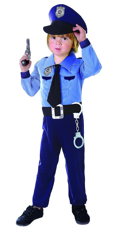 Taglia 4-6 Anni Ciao- Poliziotto Costume Bambino con Muscoli pettorali Imbottiti 14799.4-6 Carnevale