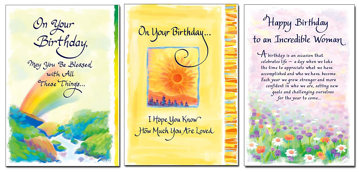 Blue Mountain Arts Classic Birthday Card Collection 3Count – Mountain Birthday Cards