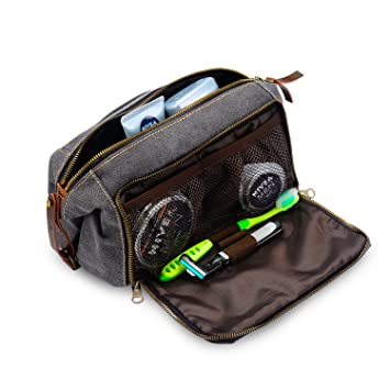 386fb021a2b0 Amazon.com   DOPP Kit Mens Toiletry Travel Bag YKK Zipper Canvas ...