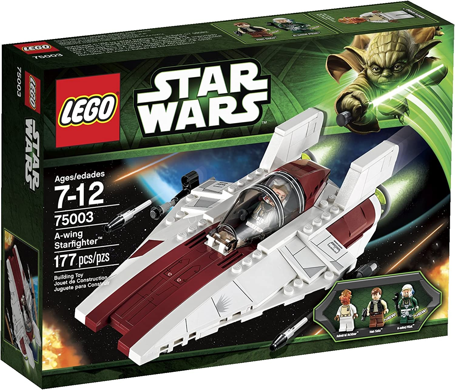 Amazon Com Lego Star Wars A Wing Starfighter 75003 Toys Games