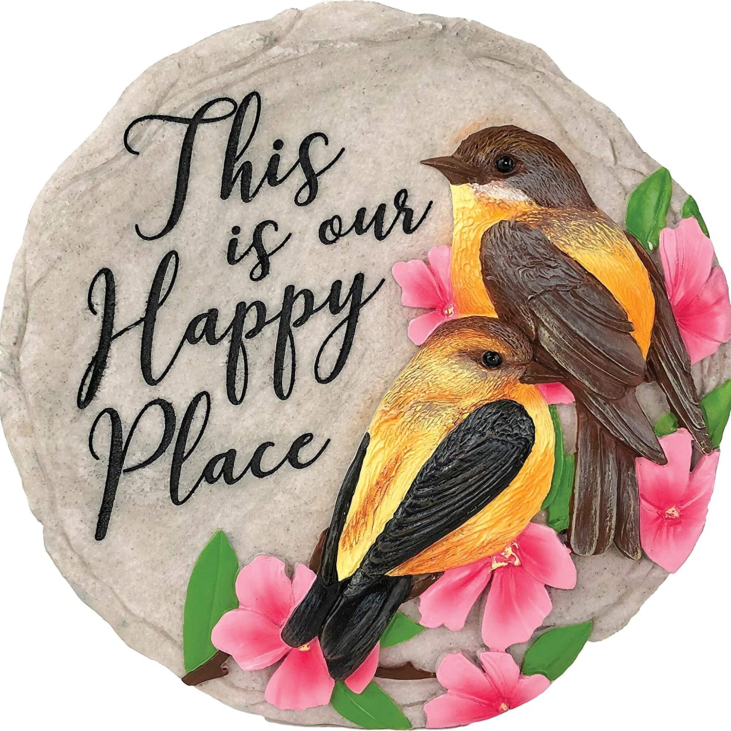 Spoontiques 13219 No Place Like Home Stepping Stone, Multicolored